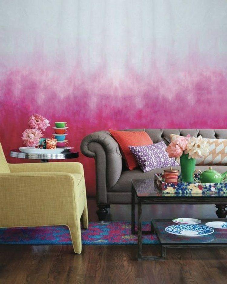 Ombre Wandgestaltung in Pink | Räumchen | Pinterest | Interiors