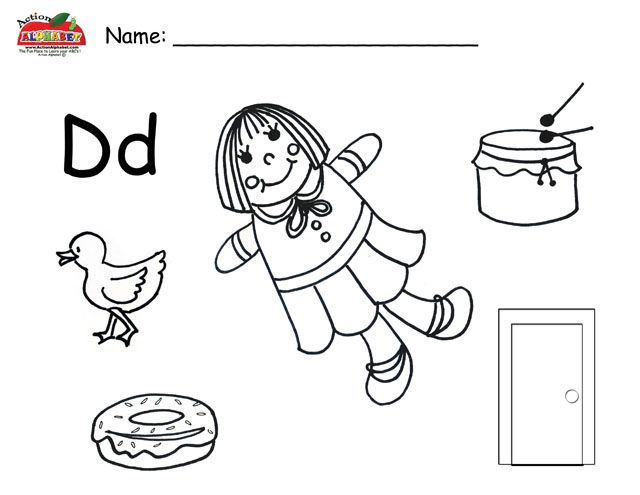 letter d objects worksheet lesson plans worksheets printable preschool worksheets. Black Bedroom Furniture Sets. Home Design Ideas