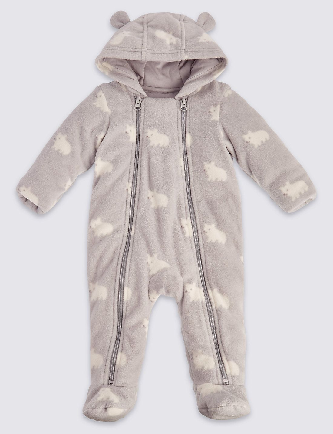 effa2059f281 Unisex Bear Animal Print Pramsuit. See more at www.parentideal.co.uk ...