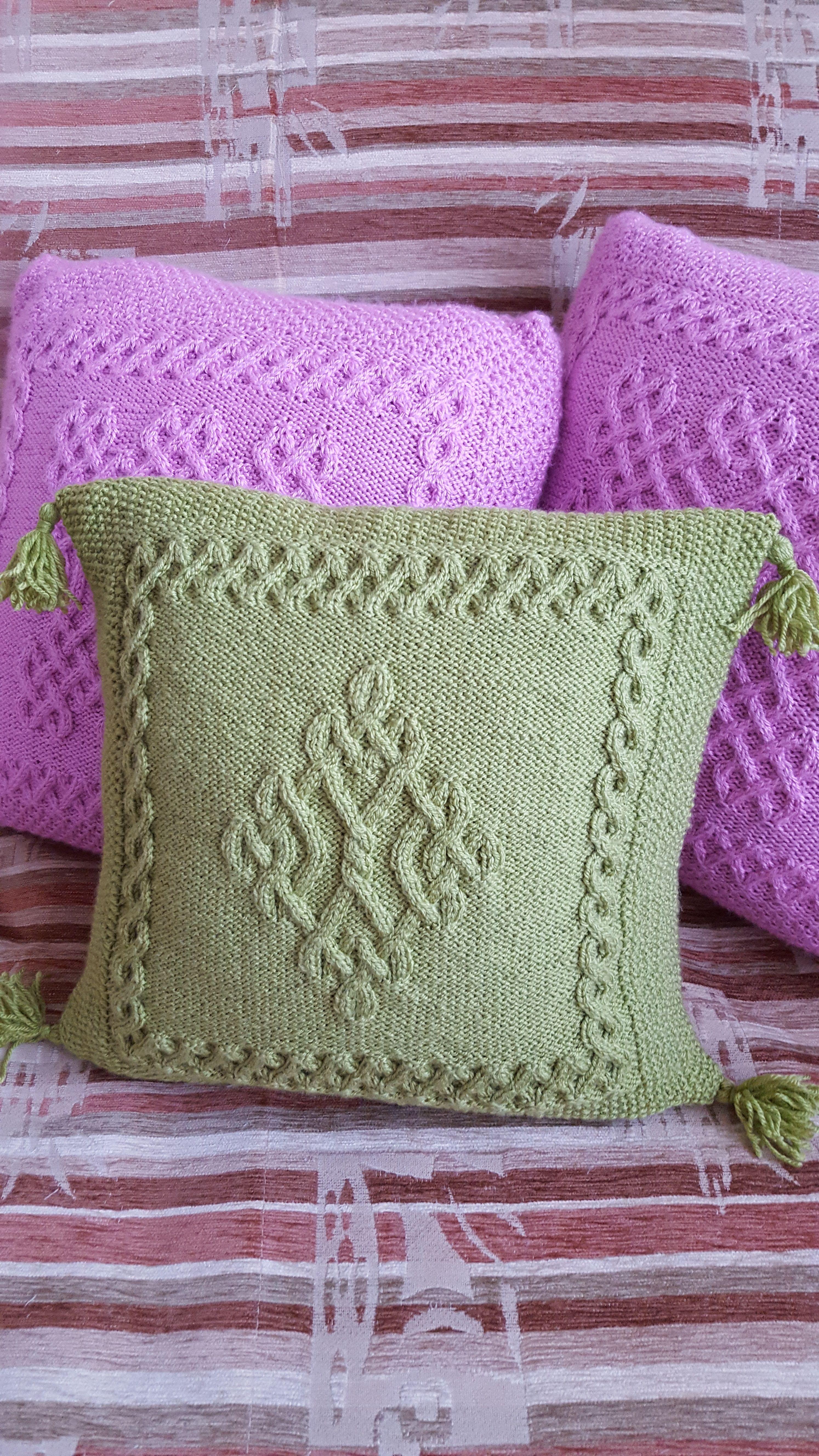 Pin by jennifer hopkins on knit housewares pinterest knit pillow