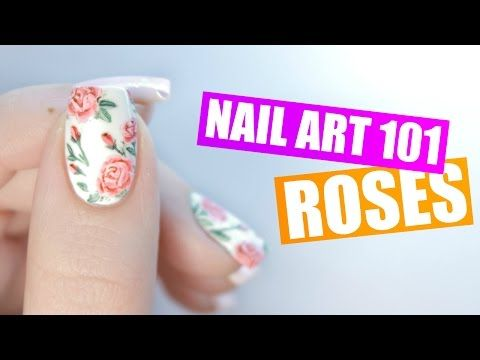 How To Paint Realistic Roses On Your Nails