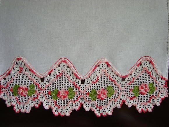 Bico De Croche Com Flores Com Graficos Pesquisa Google Panos