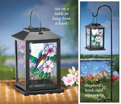 Bon Solar Hummingbird Lantern