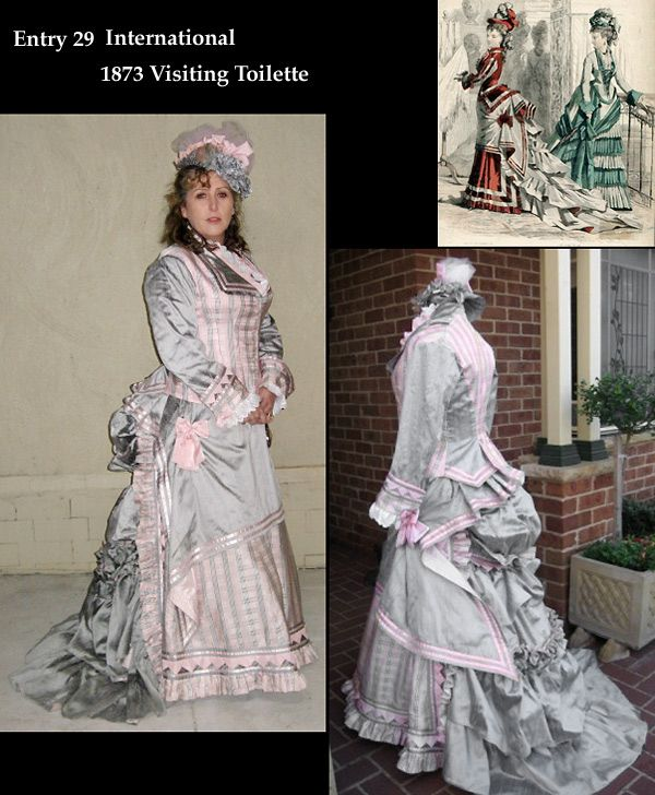 Victorian Bustle Fashion Gown Costume Contest | Full Steam Ahead ...