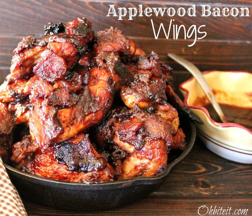 ~Applewood Bacon Wings! …and A Musselman's Apple Butter