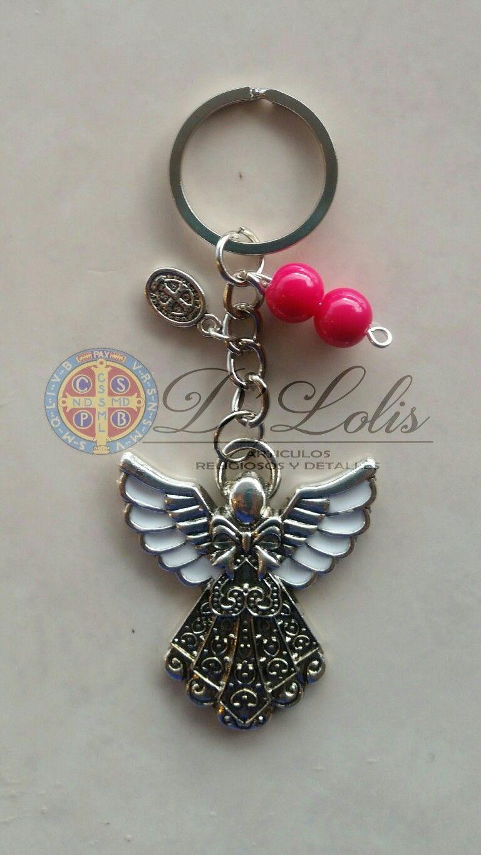 7eea696f94f Llavero ángel niña para recuerdo bautizo