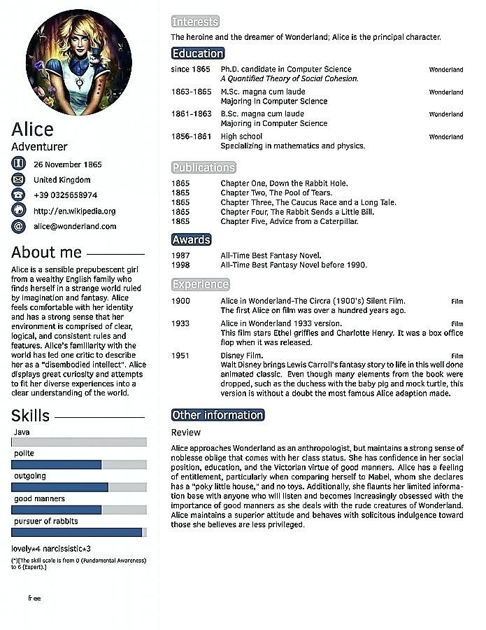 Пин на доске CV Design Template