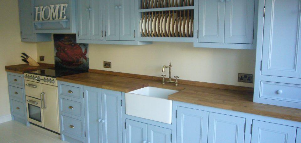 Best Stunning Blue Kitchen Handpainted In Lulworth Blue 400 x 300