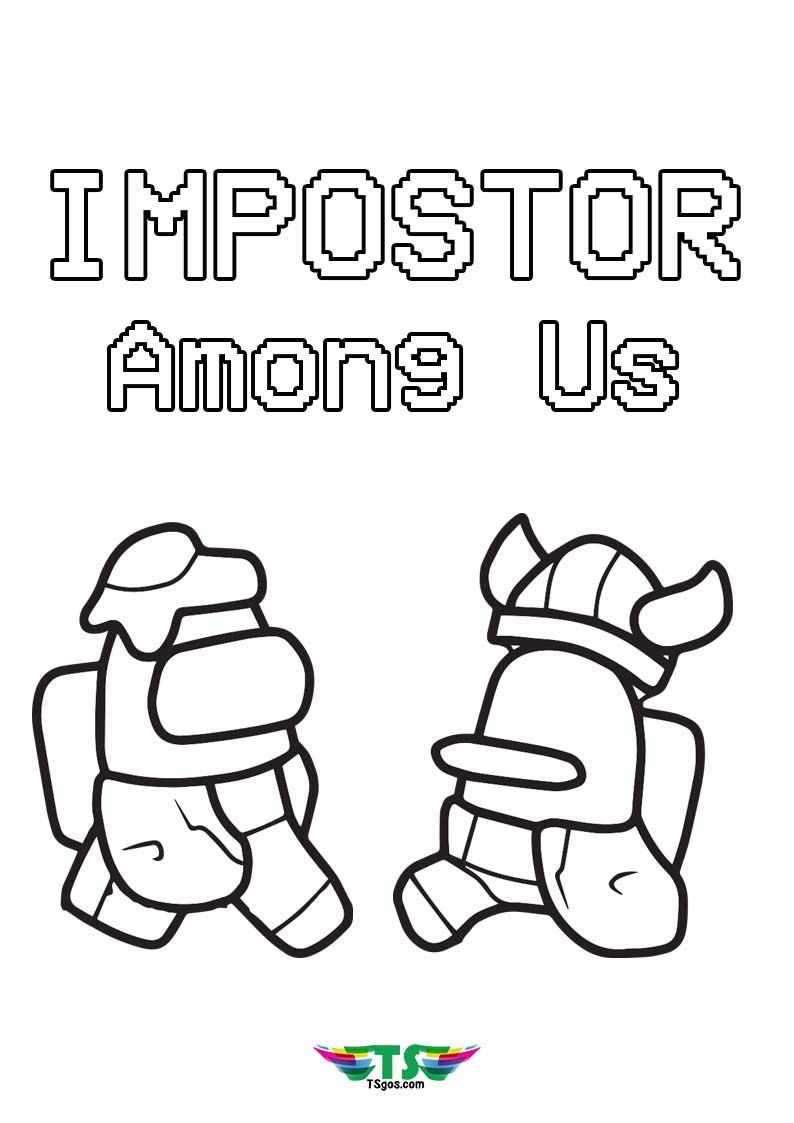 Impostor Fight Among Us Game Coloring Page Coloring Pages Print Buttons Fight