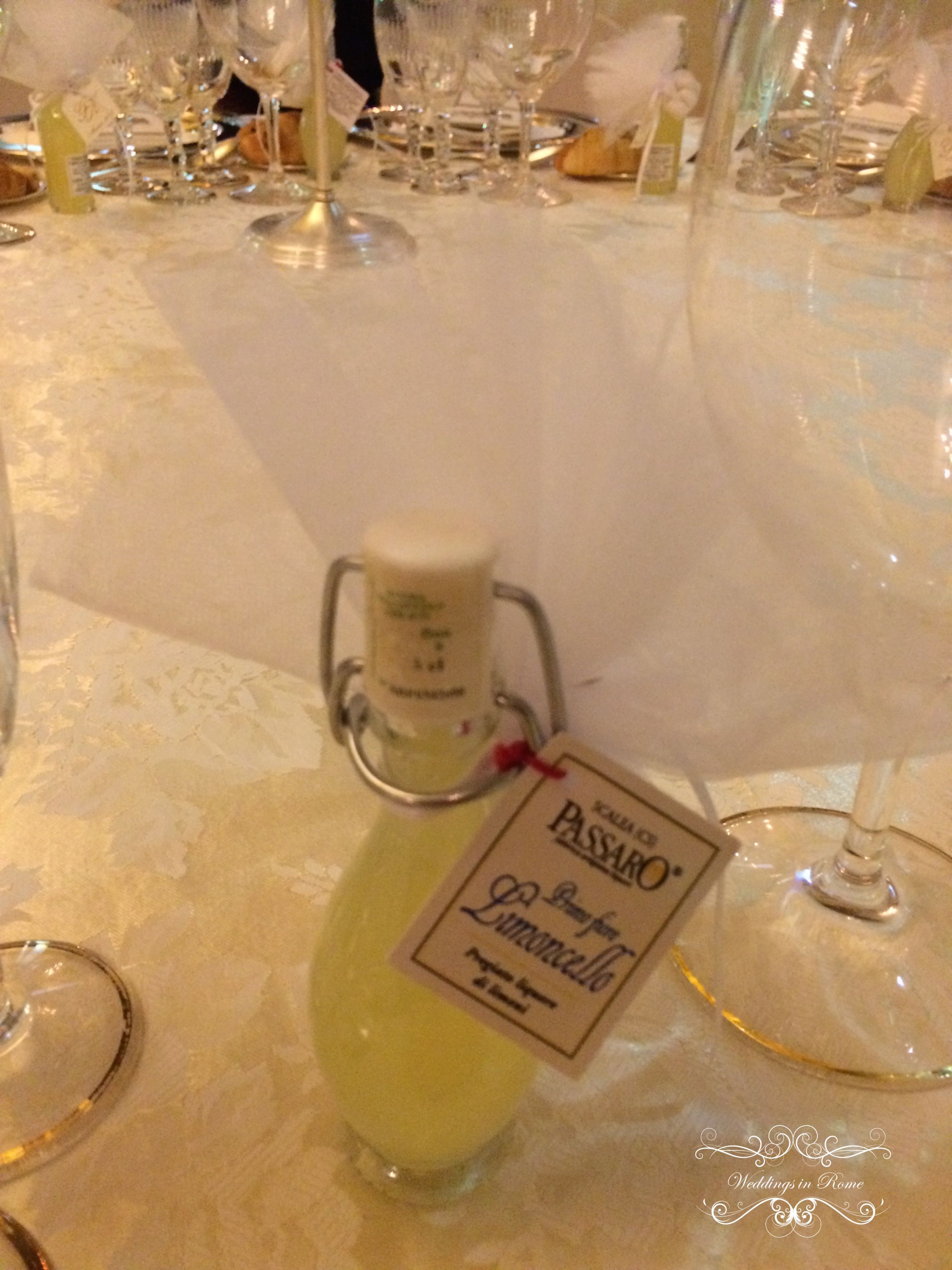 So cute!!! Limoncello favors for Gokce and Kerim's guests www.weddingsinrome.com