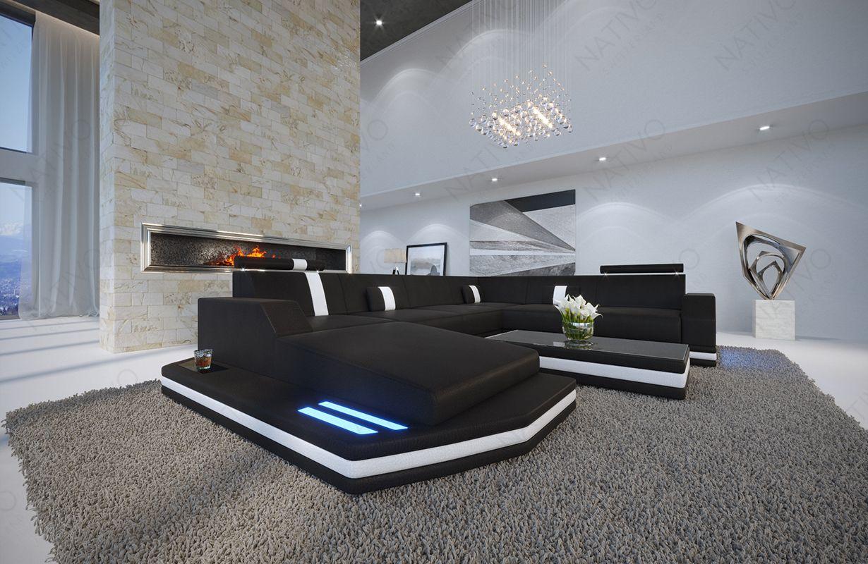 Divano di design MESIA XXL con illuminazione a LED. Mobili per il ...