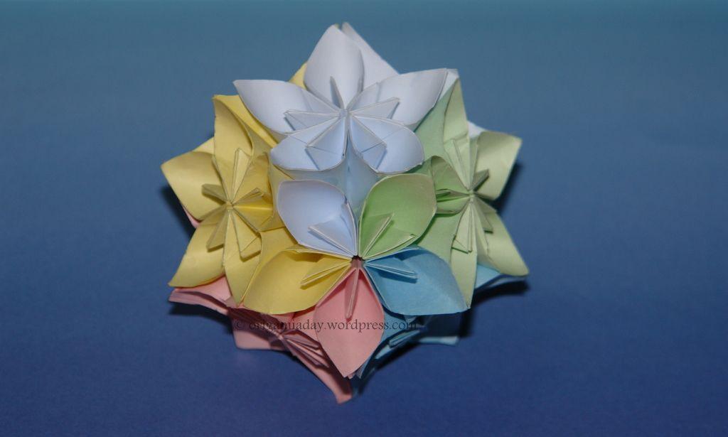 Modular flower kusudama pinterest origami big project and flower modular flower kusudama an origami a day mightylinksfo