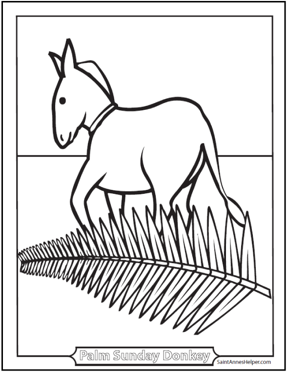 Palm Sunday Coloring Pages: Jesus On The Sunday Before Easter | Palm ...