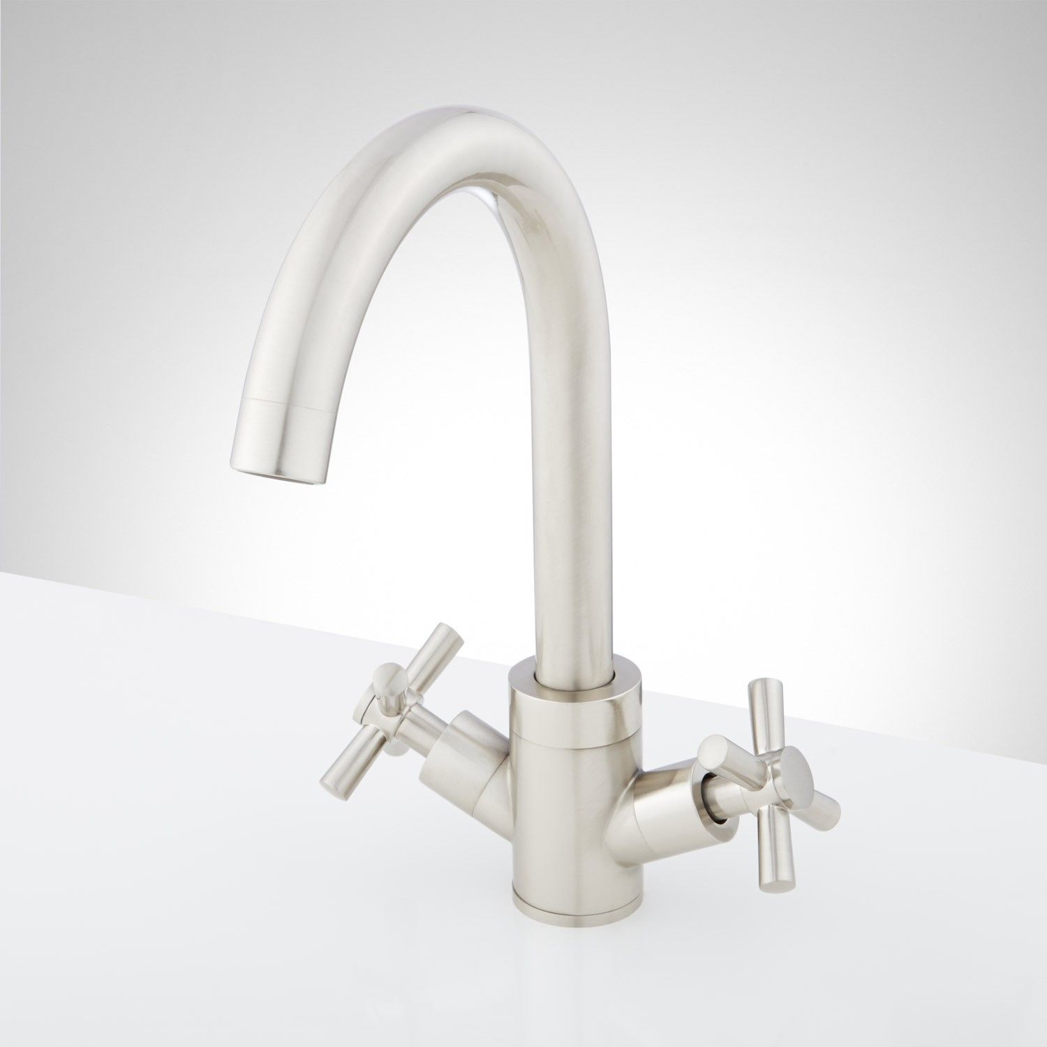 Arellano Single Hole Bathroom Faucet Faucet Brushed Nickel And