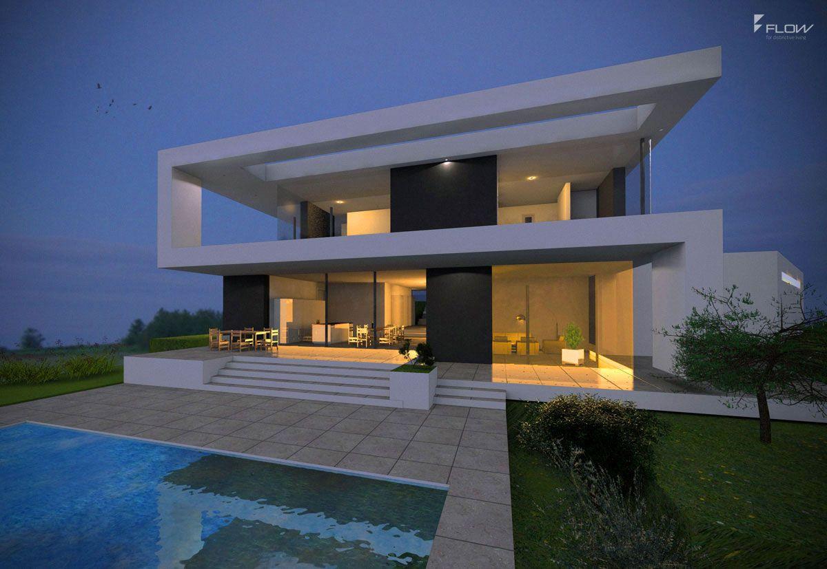 Modernes designhaus in passau bauen 2 geschossig flachdach
