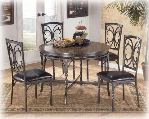 Brindleton Brown Dining Room Set Round Dining Room Table Metal Round Dining Table Brown Dining Room Set