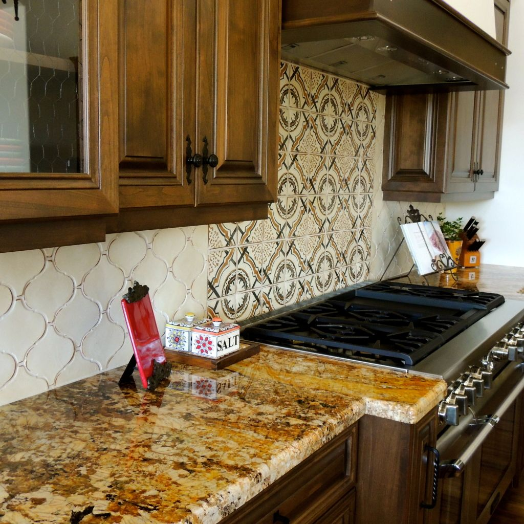 Explore the use of custom terracotta tile to create for Terracotta kitchen ideas