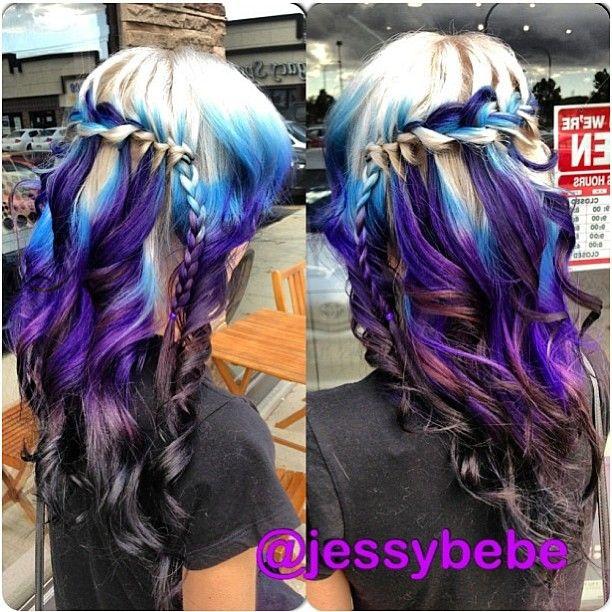 Best 25 Galaxy Hair Ideas On Pinterest Galaxy Hair
