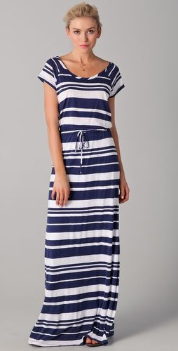 b5658702c vestido largo de rayas horizontales. #modanautica   vestidos ...