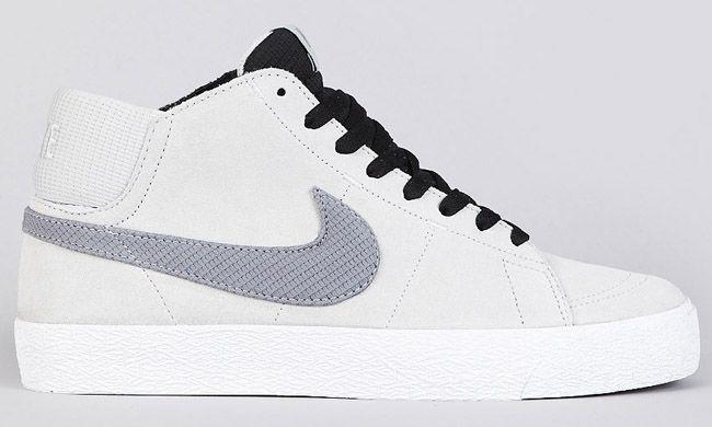 buy online ef862 410d5 Nike SB Blazer Mid LR   Strata Grey   Metallic Cool Grey