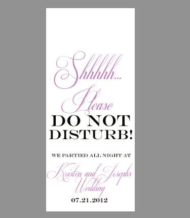 WwwEtsyCom Wedding Do Not Disturb Sign Door Hanger  Diy