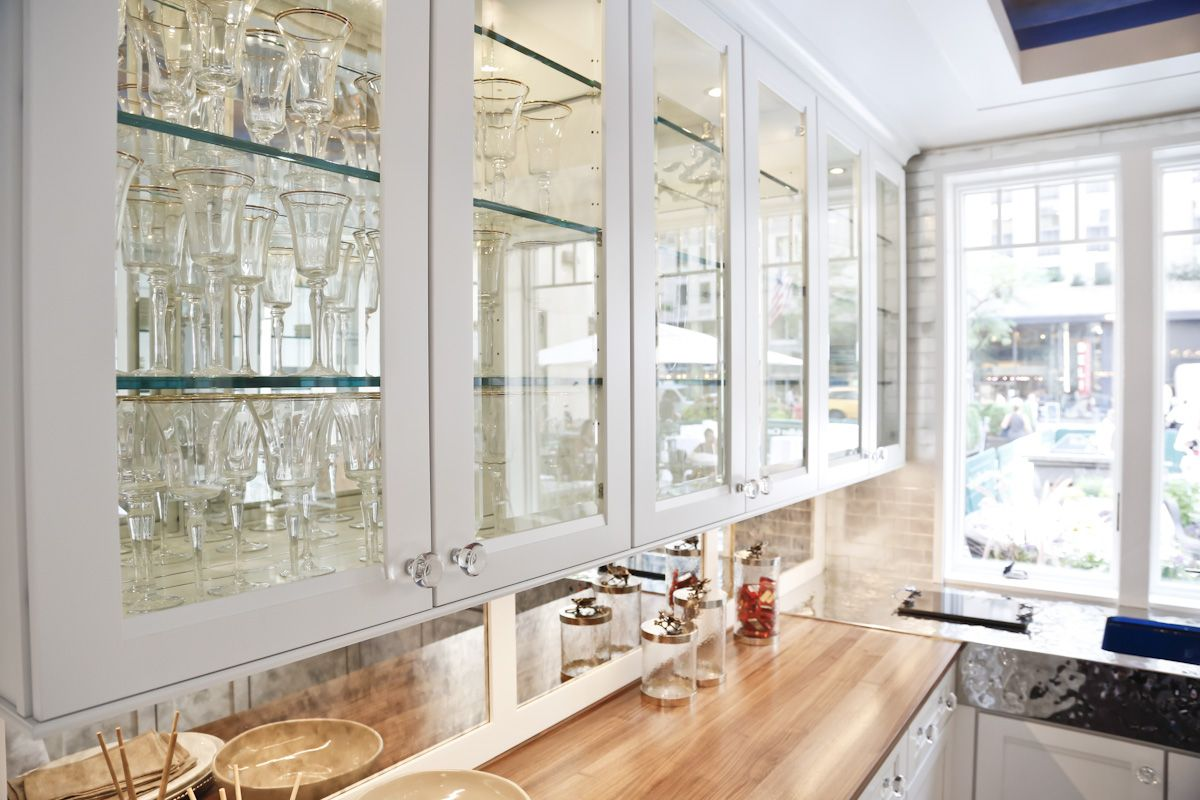 24 Pictures of Kitchens with Glass Cabinets | Glass kitchen cabinet ...