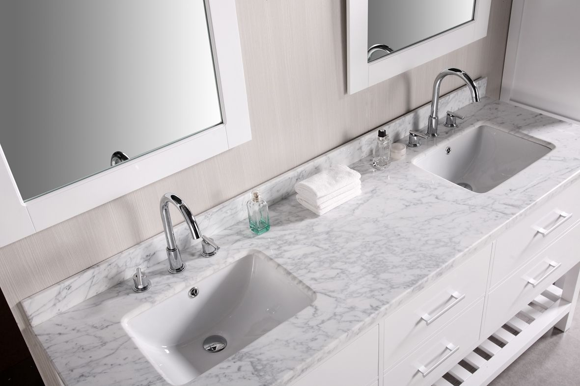 Astounding Bathroom Vanities With Tops Made From Marble And