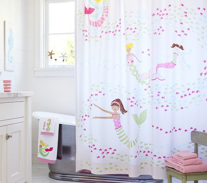 Pieces Of Mermaid Decor That Will Have You And Your Home - Kids shower curtains for small bathroom ideas