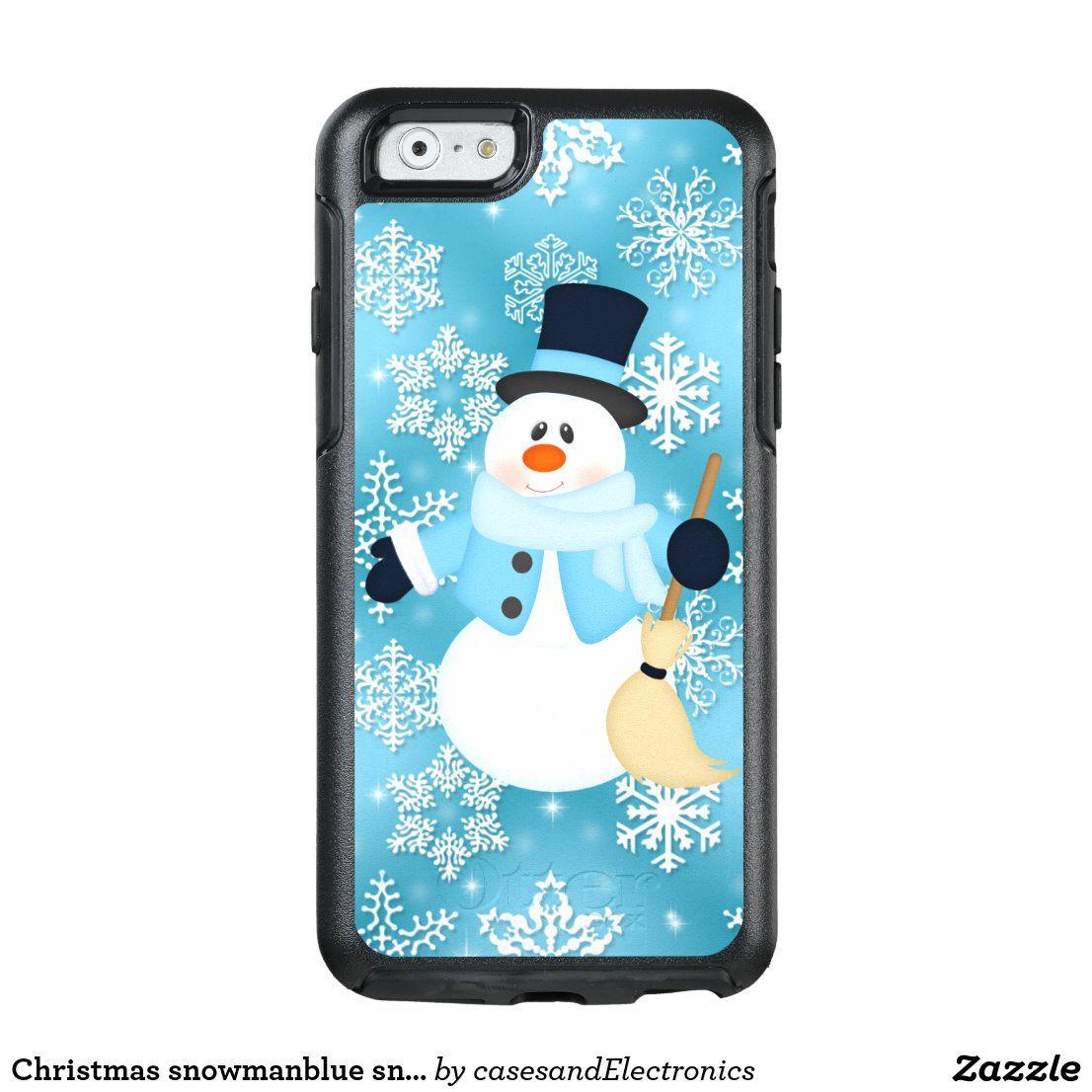 Weihnachten schneemannblau schneeflocke otterbox fall | Zazzle.com   – Phone Cases