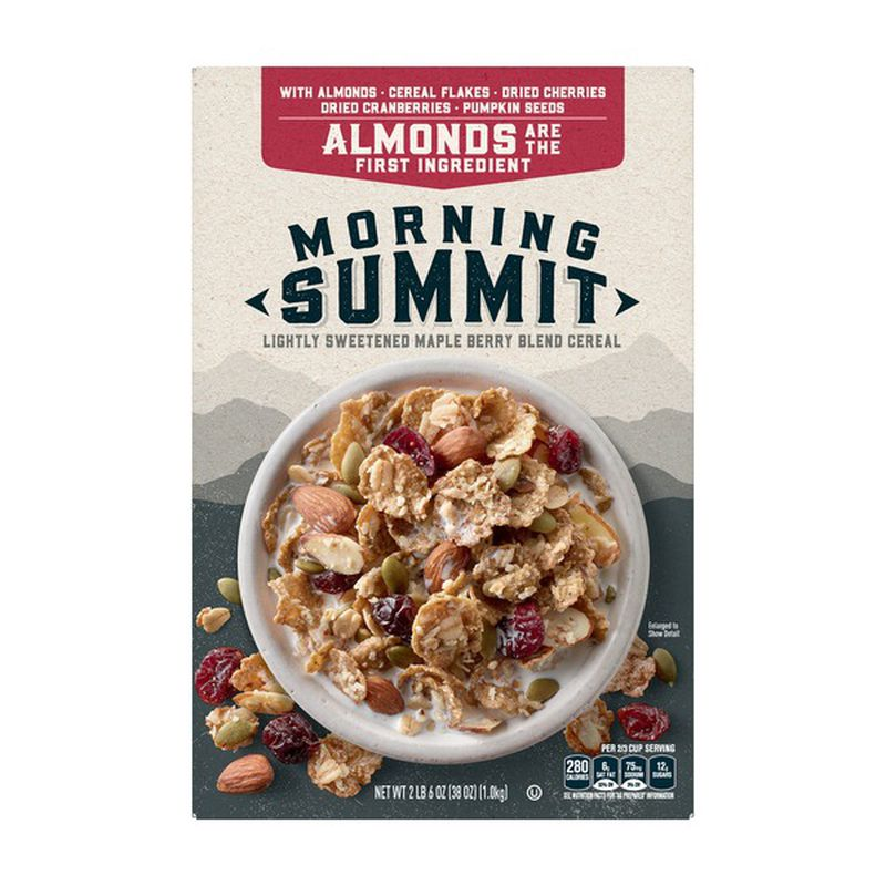 General Mills Morning Summit Maple Berry Blend Breakfast Cereal Whole Grain Cereals Packaged Food Pumpkin Cranberry