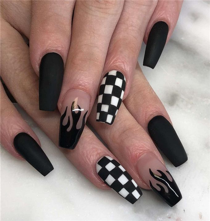 42 Chic Acrylic Coffin Nails Art Designs And Ideas In 2020 – Page 6
