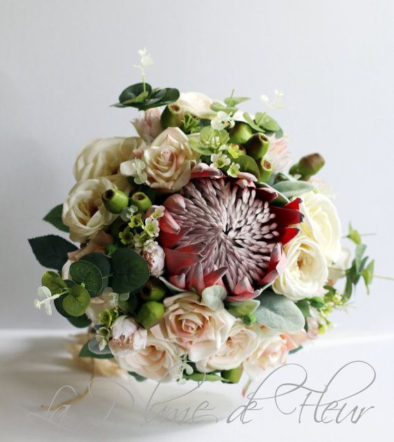 ROSALIE - is a stunning extra large rustic wedding bouquet of ...