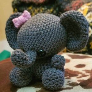 PATTERN: Ellis the Elephant - crochet elephant - amigurumi elephant pattern - English, German, Portu #crochetelephantpattern