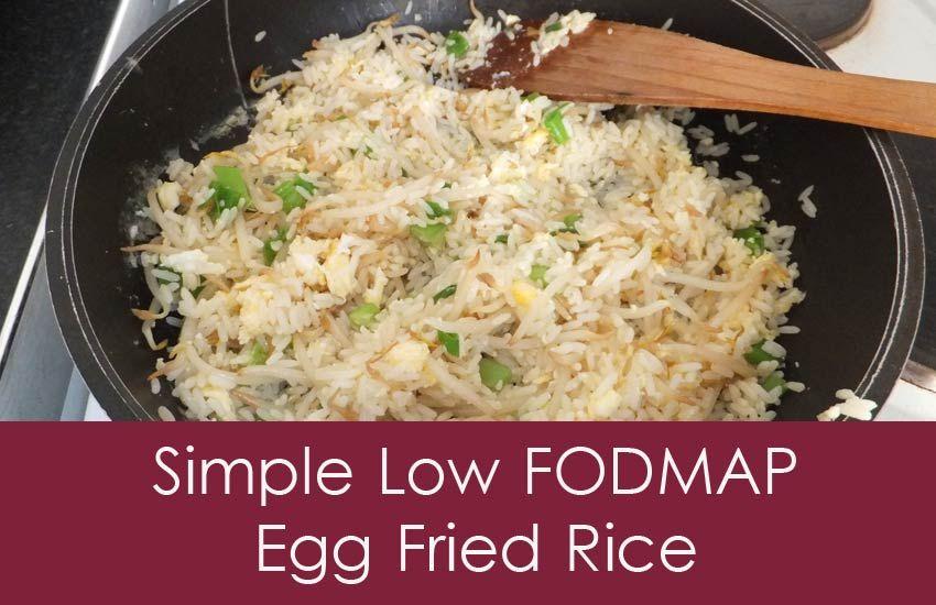 Super Simple Low FODMAP Egg Fried Rice