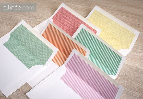 Free Spring Envelope Liner Printables  Print The Templates Onto A