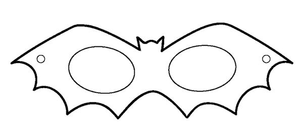 Molde De Morcego Para Imprimir E Recortar Mascaras De Carnaval