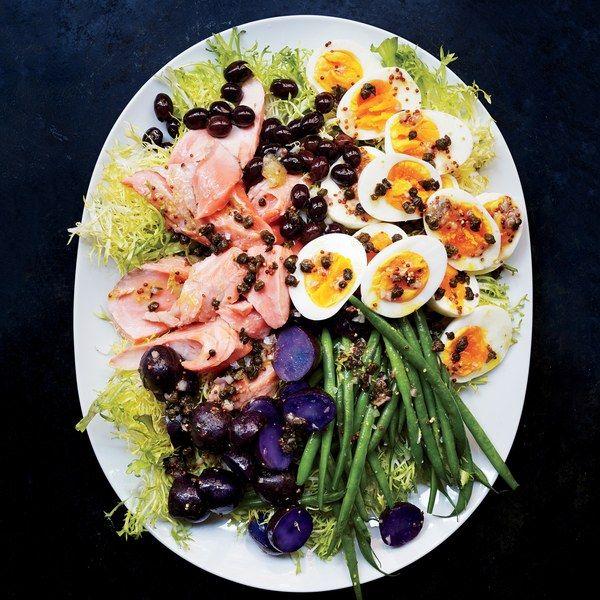 Salmon Nicoise Recipe Nicoise Salad Recipes Salmon Nicoise Salad