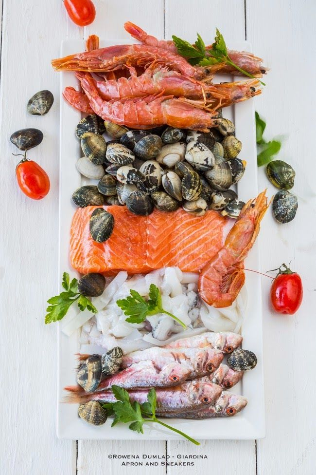 Apron and Sneakers - Cooking & Traveling in Italy and Beyond: Seafood Mix with Fried Barley and Garlic Lime Sauce