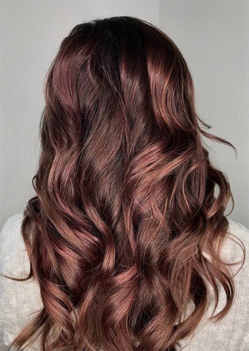Rose Brown Hair Trend: 23 Magische Rose Brown Haarfarben zu versuchen - Neueste frisuren | bob frisuren | frisuren 2018 - neueste frisuren 2018 - haar modelle 2018
