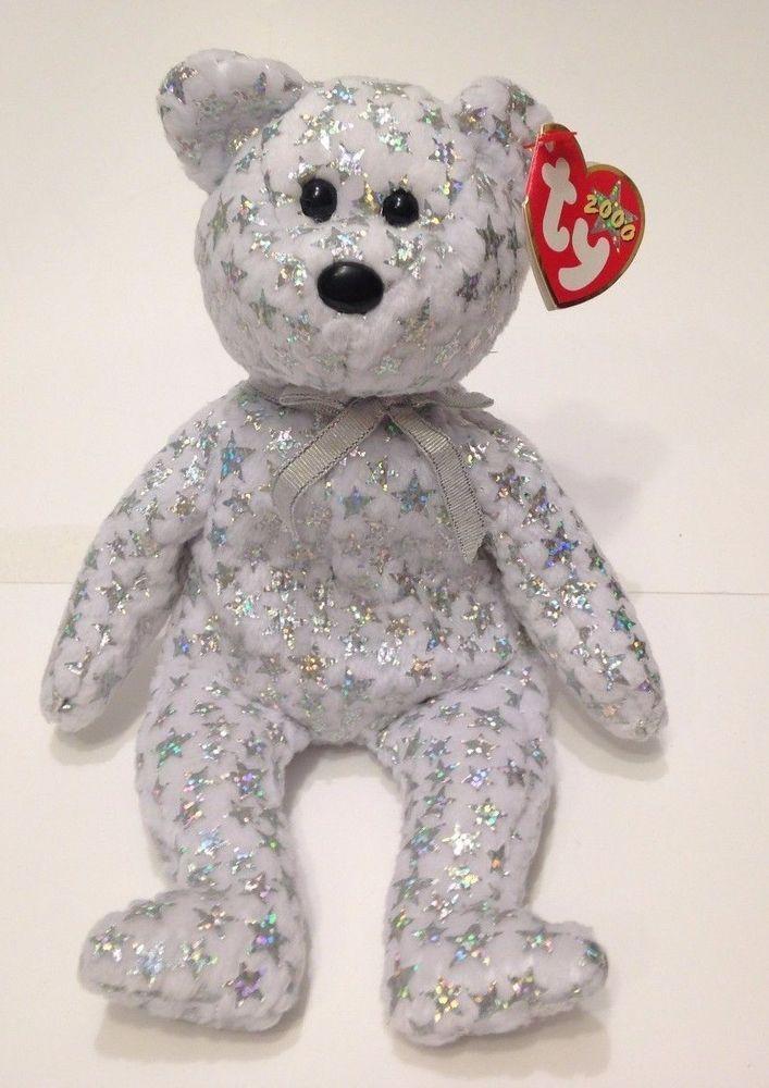 Ty Beanie Babies The Beginning Bear Plush Teddy 8