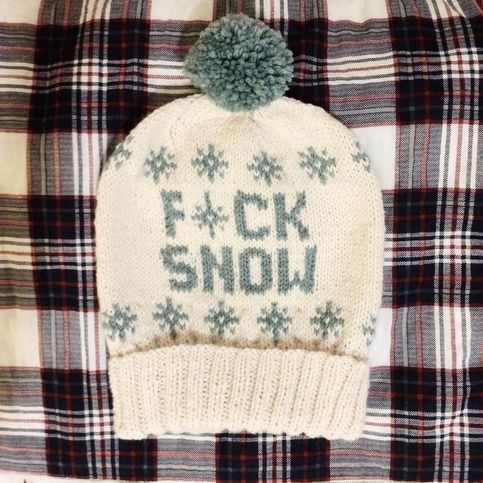 Fair Isle Pom Pom Ski Hat // The Fuck Snow // Fisherman & Seaspray ...