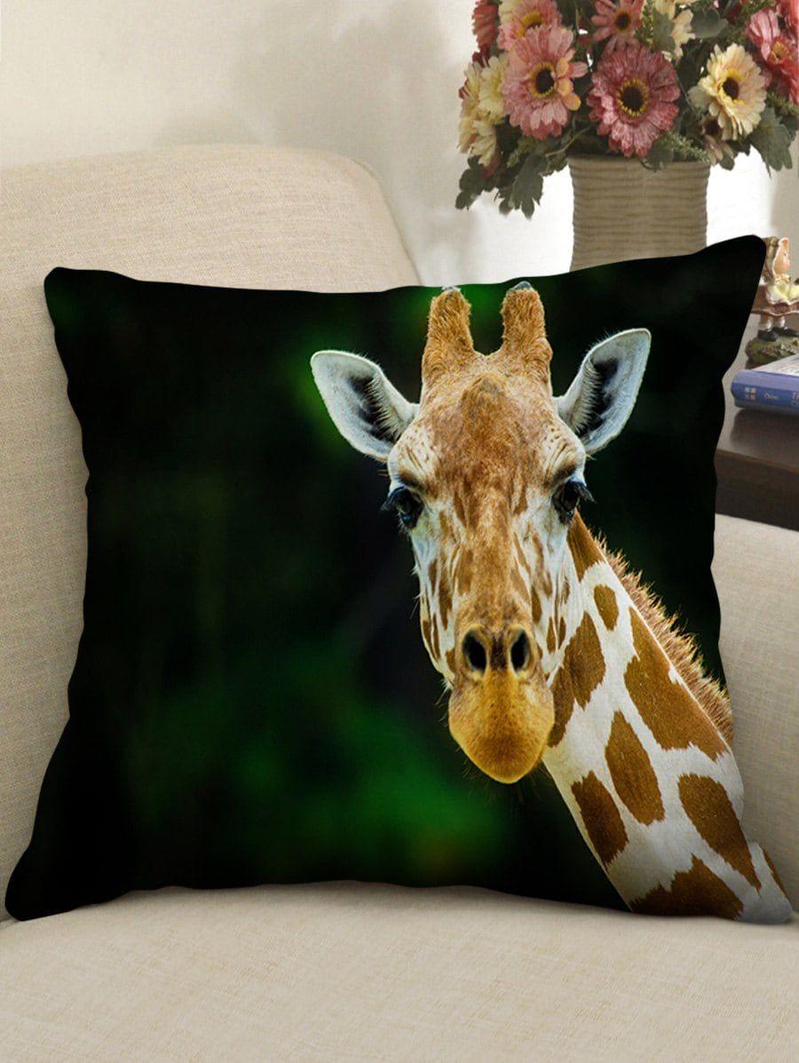 Gazing Giraffe Pattern Throw Pillow Case Decorative Pillow Shams Patterned Throw Pillows Cheap Throw Pillows