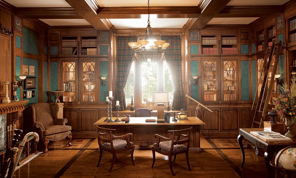 traditional home office design 1 - Traditional Home Office