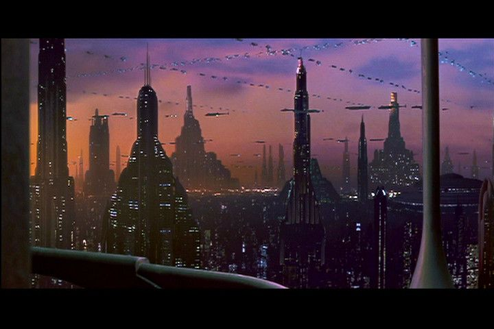 coruscant | View from an apartment on one of the skyscrapers on Coruscant.