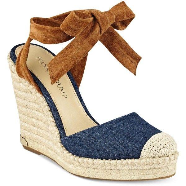 Ivanka Trump Winikka Espadrille Wedge Sandals ( 140) ❤ liked on Polyvore  featuring shoes