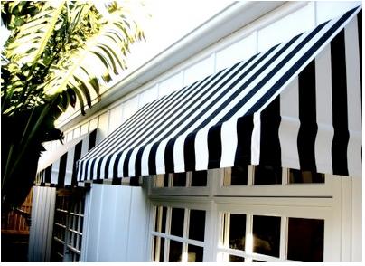 I Love Awnings House Exterior White Windows Black Decor