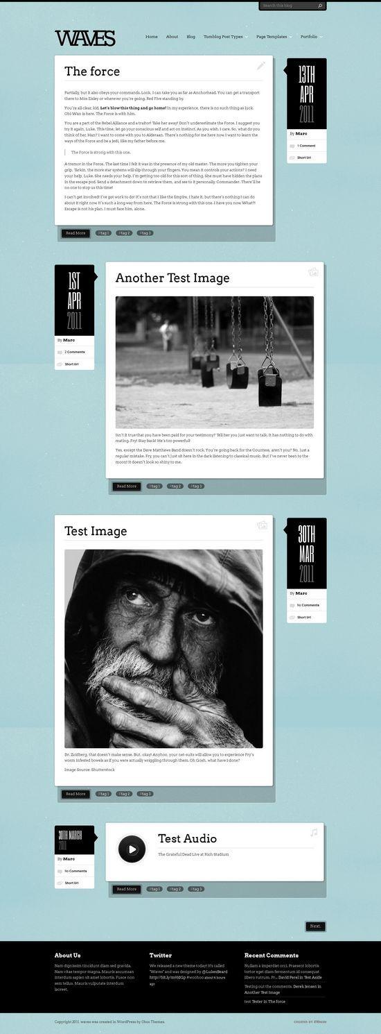Unique Web Design, Waves #WebDesign #Design (http://www.pinterest.com/aldenchong/)