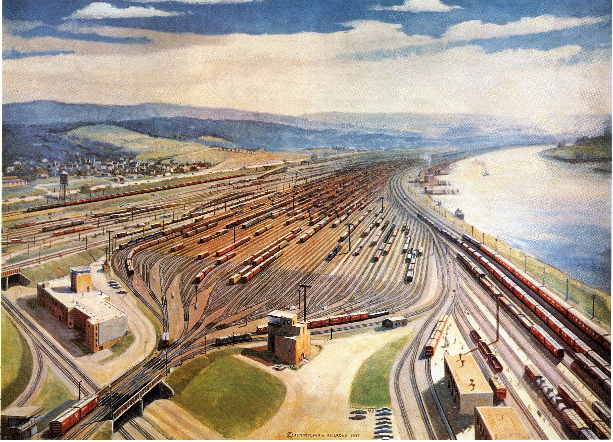 When rebuilt in the 1950s the Conway Yard 20 miles northwest of