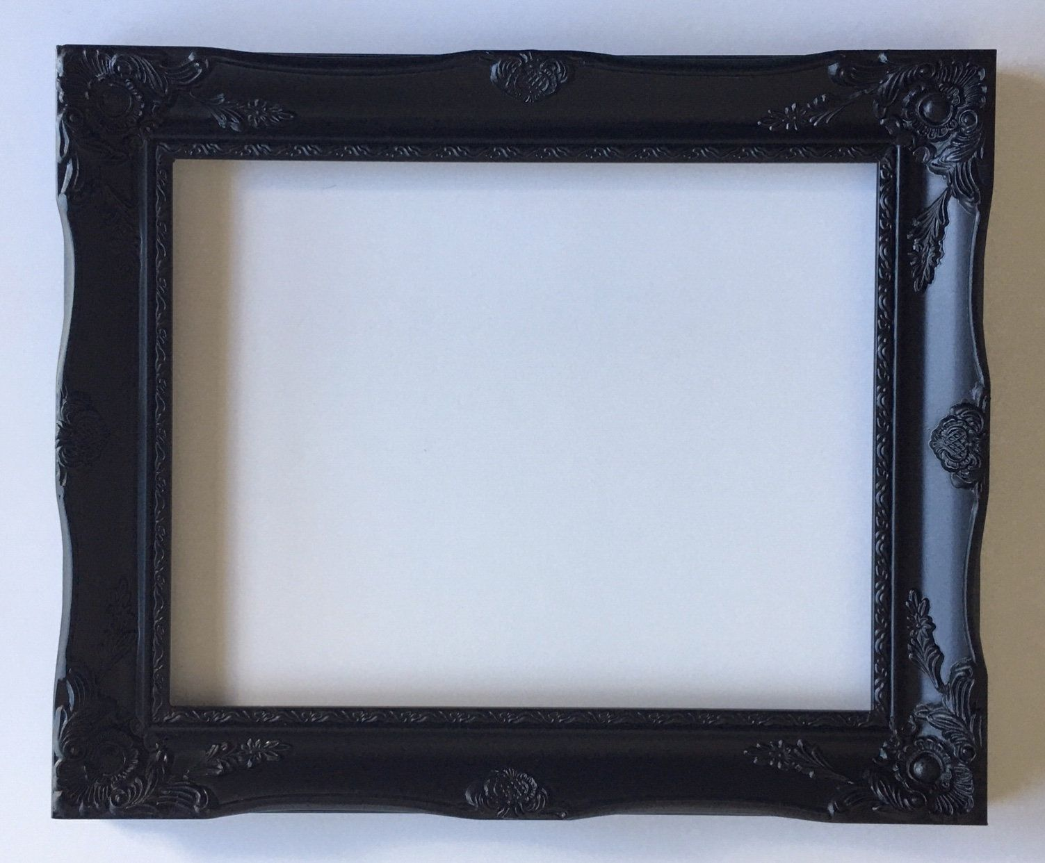 Matte Black Picture Frame With Glass And Back 11x14 Vintage Inspired Ornate Wall Gallery Black Picture Frames Farmhouse Picture Frames Picture Frames