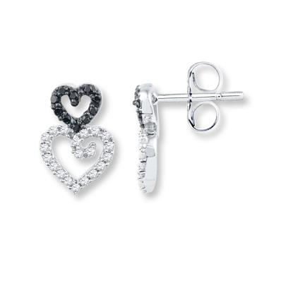 801fb9310 Diamond Earrings 1/4 ct tw Black/White 10K White Gold | Products ...